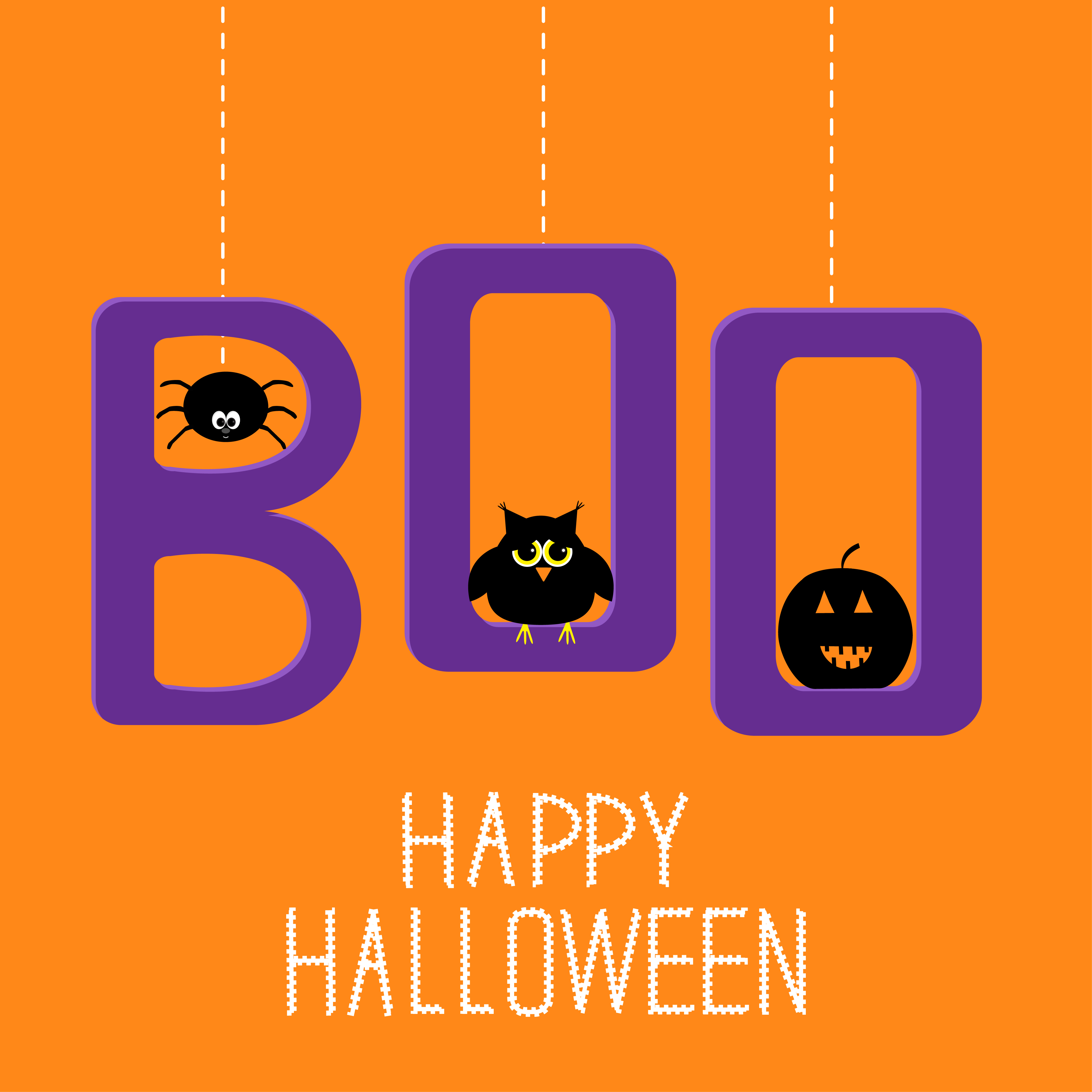 Boo Halloween from Shutterstock